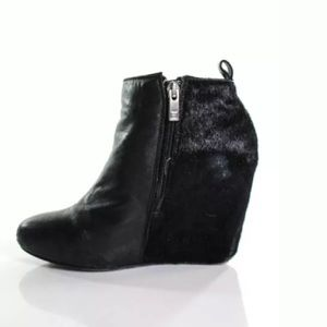Dolce Vita Shoes - DOLCE VITA LEATHER & CALF HAIR BOOTIES SIZE 6